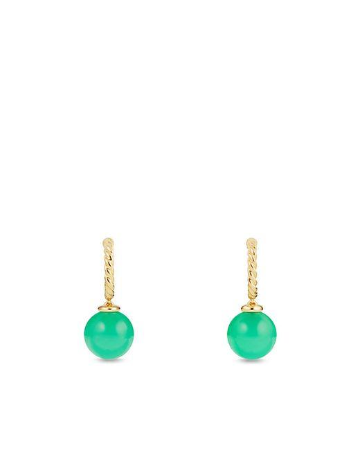 David Yurman   Green Solari Hoop Earrings With Chrysoprase In 18k Gold   Lyst