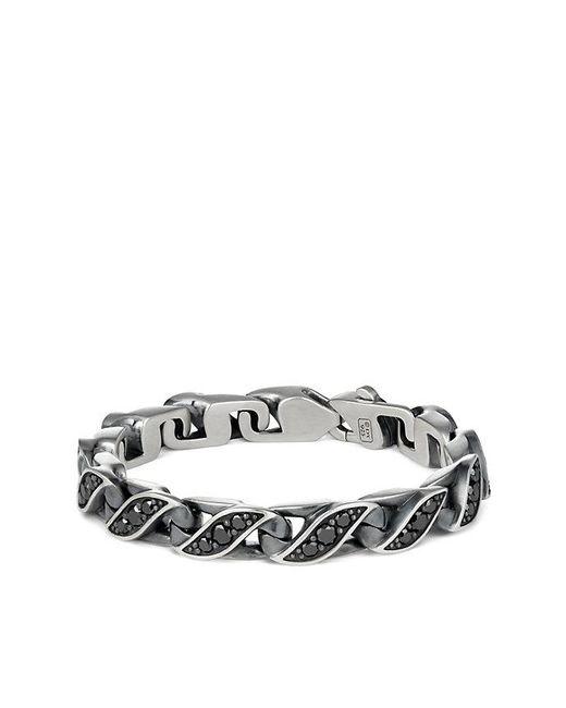 David Yurman | Metallic Graphic Cable Curb Link Bracelet With Diamonds, 9mm | Lyst