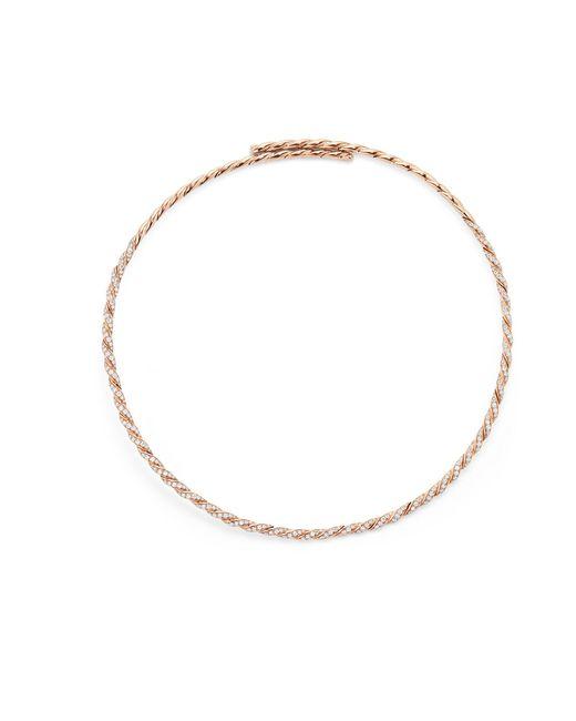 David Yurman - Metallic Pavéflex Single Row Necklace With Diamonds In 18k Rose Gold - Lyst