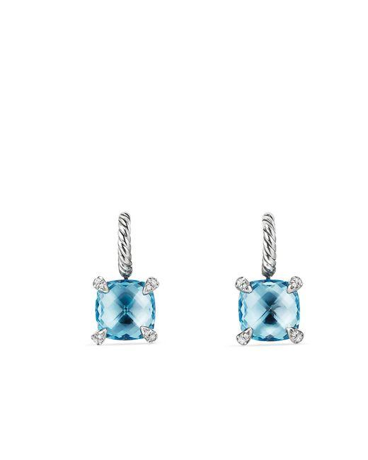 David Yurman - Blue Chatelaine Drop Earrings With Gemstone And Diamonds - Lyst