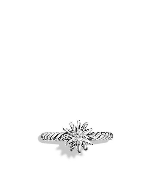 David Yurman - Gray Starburst Ring With Diamonds - Lyst