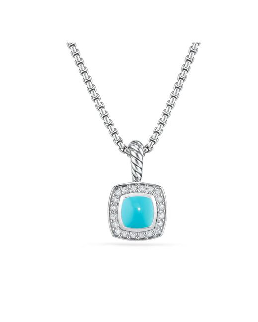 David Yurman - Blue Petite Albion® Pendant Necklace With Turquoise And Diamonds - Lyst