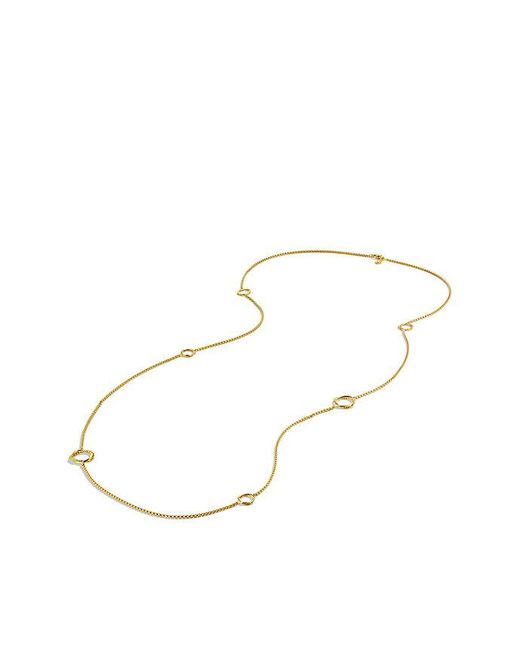 David Yurman | Metallic Infinity Station Necklace In 18k Gold | Lyst