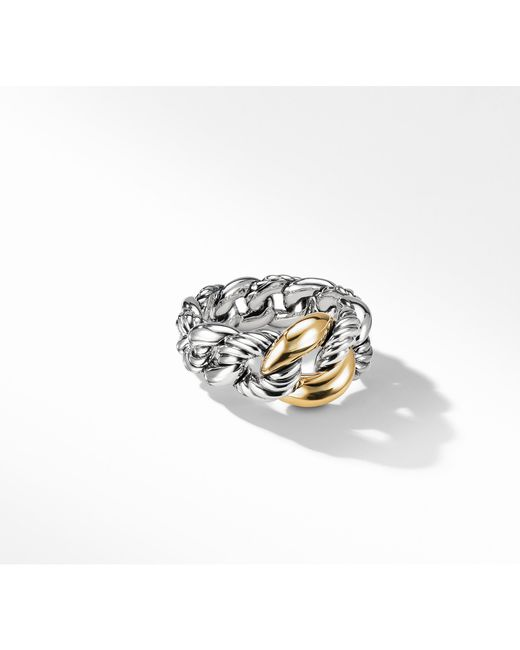 David Yurman - Metallic Belmont Curb Link Ring With 18k Gold - Lyst