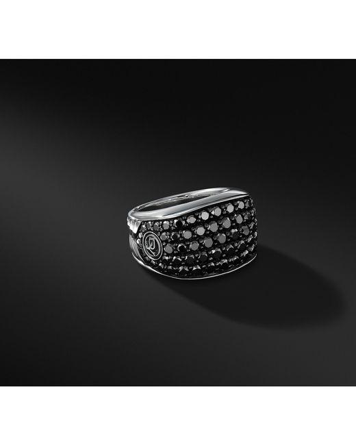 David Yurman - Pavé Three-sided Ring With Black Diamonds for Men - Lyst
