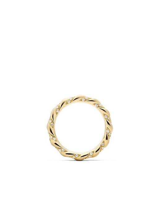 David Yurman - Metallic Dy Unity Wedding Band With Diamonds In 18k Gold, 2.6mm - Lyst