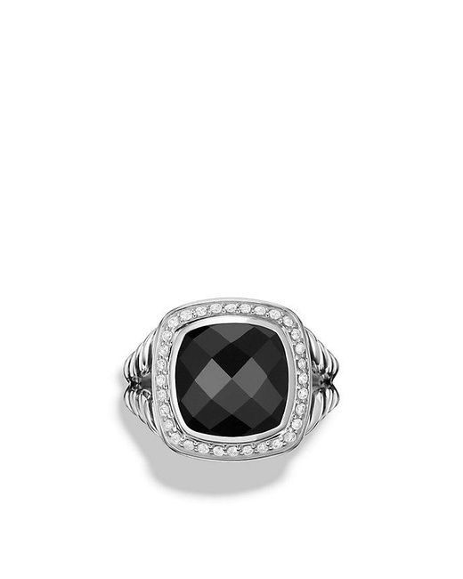 David Yurman | Metallic Albion® Ring With Black Onyx And Diamonds, 11mm | Lyst