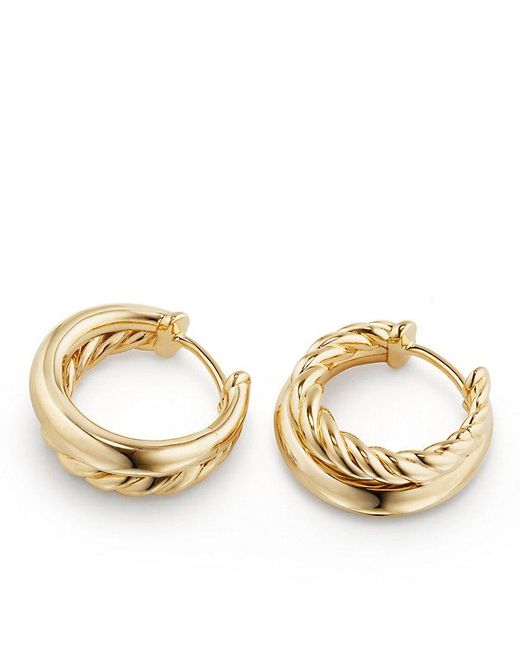 David Yurman | Metallic Pure Form Hoop Earrings In 18k Gold, 25.5mm | Lyst