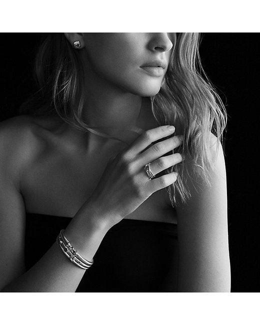 David Yurman - Metallic Cable Classic Buckle Bracelet With 18k Gold, 5mm - Lyst
