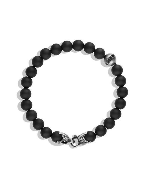 David Yurman - Spiritual Beads Bracelet With Black Onyx And Black Diamonds, 8mm for Men - Lyst