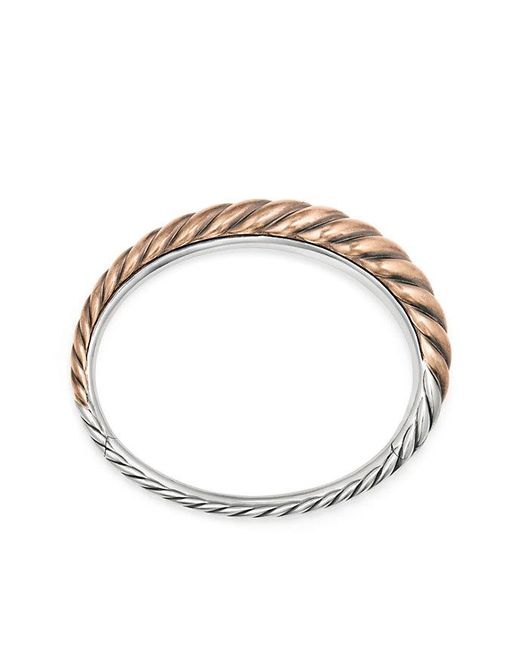 David Yurman - Metallic Pure Form® Mixed Metal Cable Bracelet With Bronze And Silver, 9.5mm - Lyst