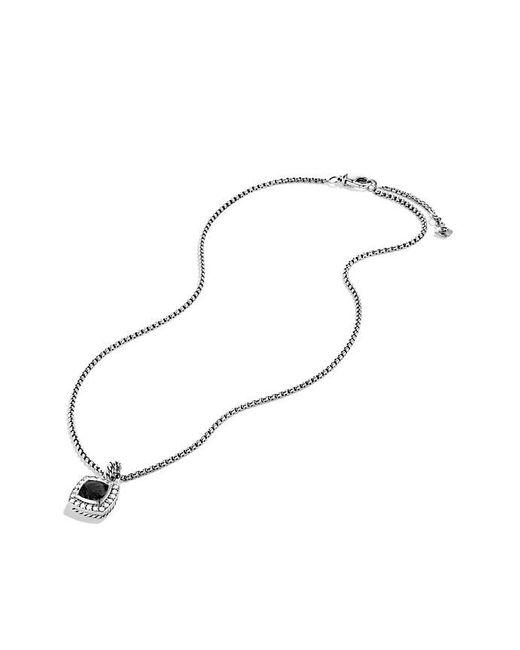 David Yurman | Petite Albion Pendant Necklace With Black Onyx And Diamonds | Lyst