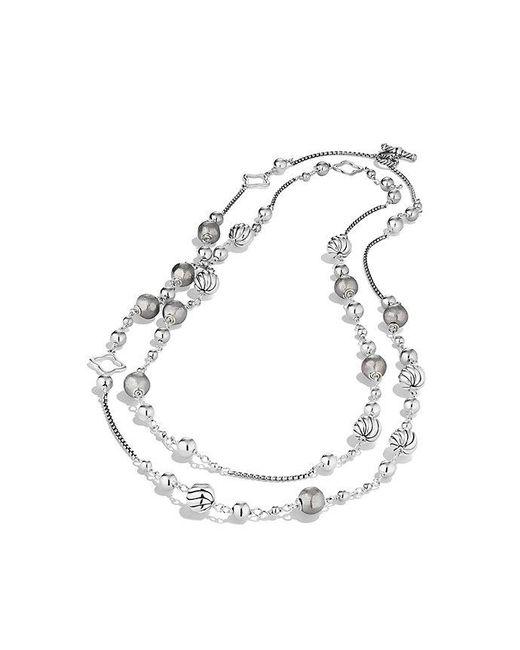 David Yurman | Metallic Bijoux Bead And Chain Necklace | Lyst