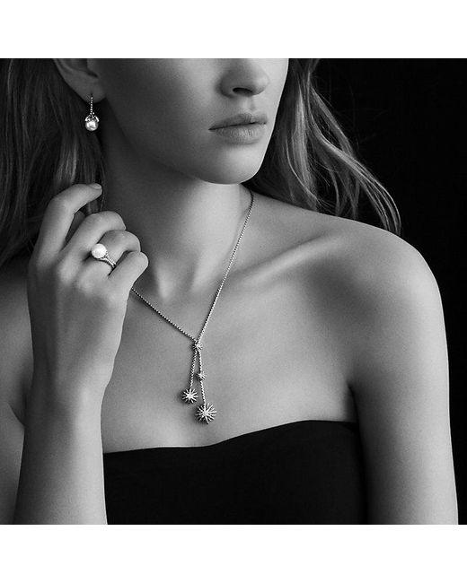 David Yurman | Metallic Starburst Y Necklace With Diamonds | Lyst