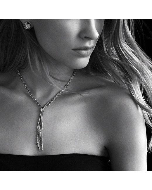 David Yurman | Metallic Willow Tassel Necklace With Diamonds In 18k Gold | Lyst