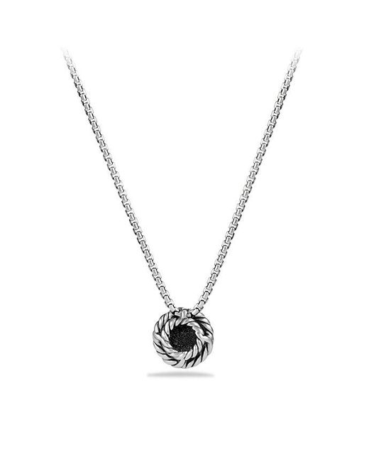 David Yurman | Metallic Petite Pavé Pendant Necklace With Diamonds | Lyst