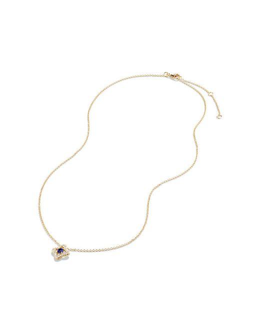 David Yurman   Metallic Venetian Quatrefoil Necklace With Tanzanite And Diamonds In 18k Gold   Lyst