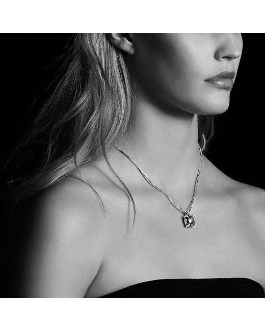 David Yurman   Metallic Châtelaine® Pendant Necklace With Citrine And Diamonds In 18k Gold, 14mm   Lyst