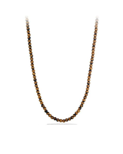 David Yurman | Brown Spiritual Bead Necklace With Tiger's Eye for Men | Lyst