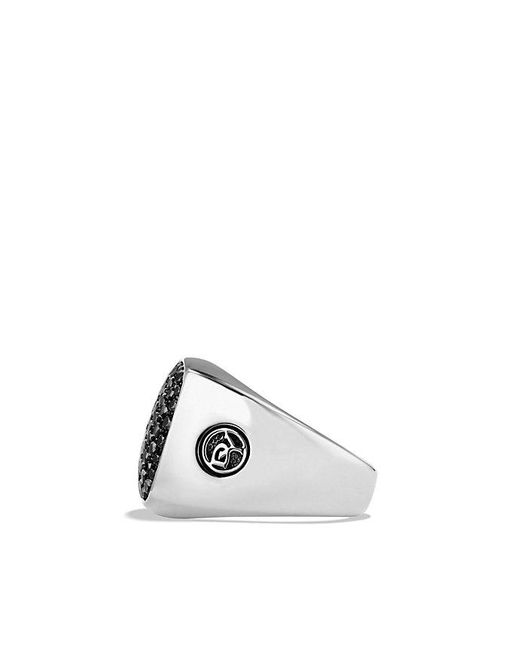 David Yurman | Pavé Signet Ring With Black Diamonds for Men | Lyst