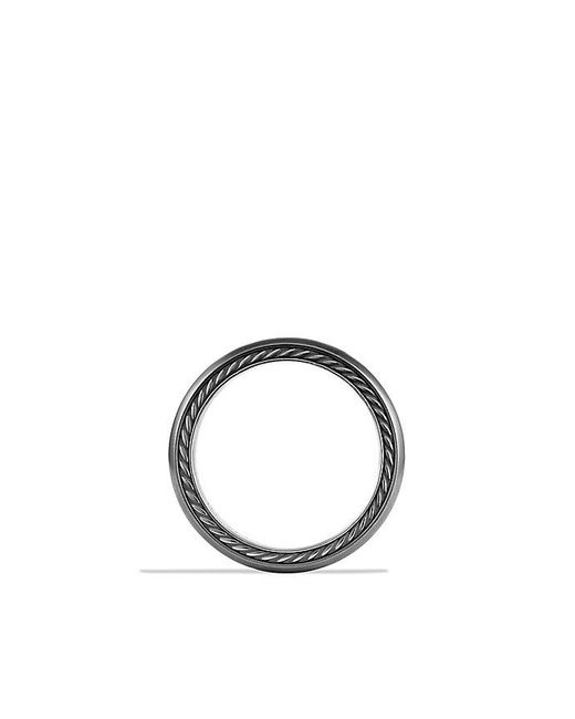 David Yurman | Streamline Narrow Band Ring With Black Diamonds And Gray Titanium, 6mm for Men | Lyst