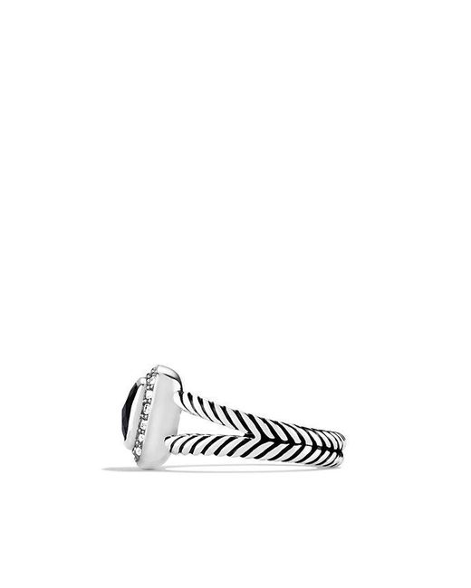 David Yurman | Petite Albion® Ring With Black Onyx And Diamonds | Lyst