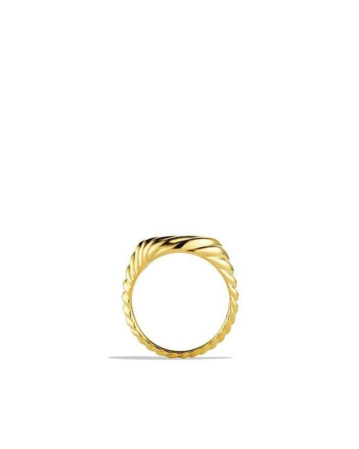 David Yurman | Metallic Sculpted Cable Pinky Ring In 18k Gold | Lyst