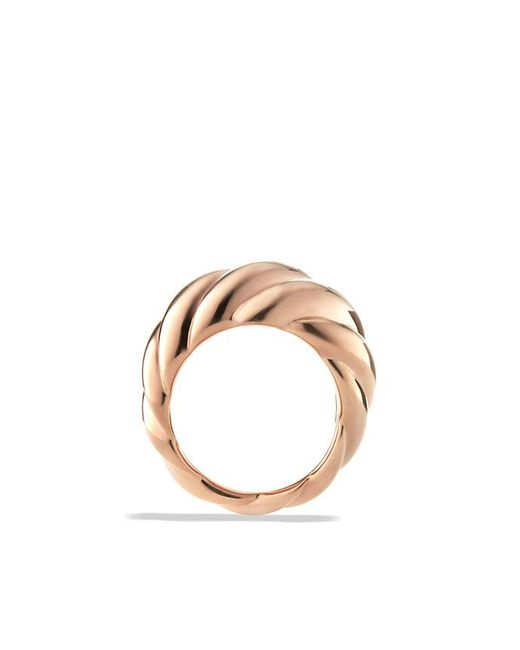 David Yurman | Pink Hampton Cable Ring In 18k Rose Gold | Lyst