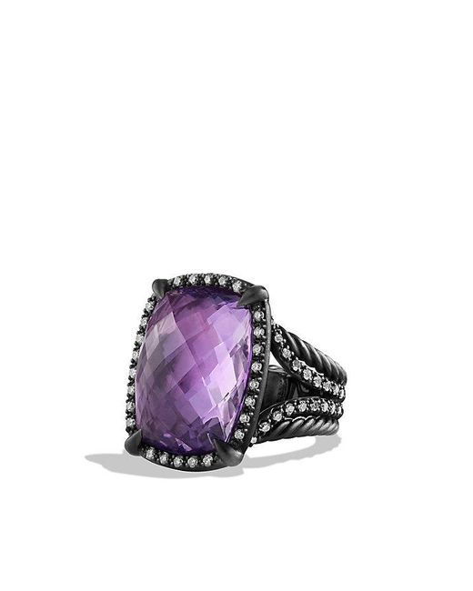 David Yurman | Purple Châtelaine Ring With Amethyst And Gray Diamonds | Lyst