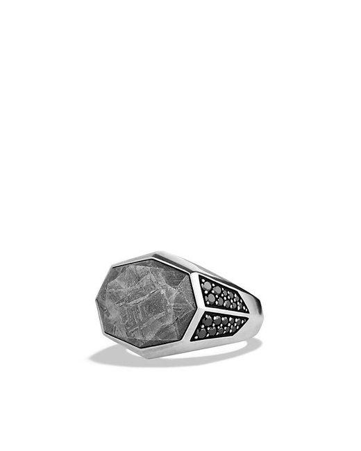 David Yurman | Meteorite Signet Ring With Black Diamonds for Men | Lyst