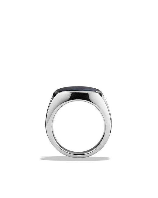 David Yurman | Metallic Knife-edge Signet Ring With Pietersite for Men | Lyst