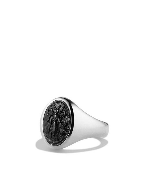 David Yurman | Metallic Petrvs Bee Signet Ring With Black Onyx for Men | Lyst