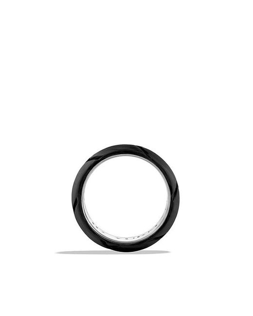 David Yurman | Black Forged Carbon Band Ring for Men | Lyst