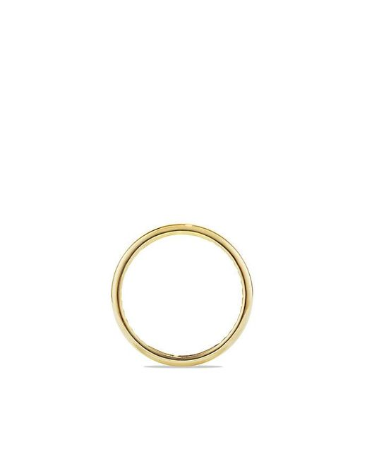 David Yurman | Metallic Dy Eden Narrow Band Ring In 18k Gold, 4mm for Men | Lyst