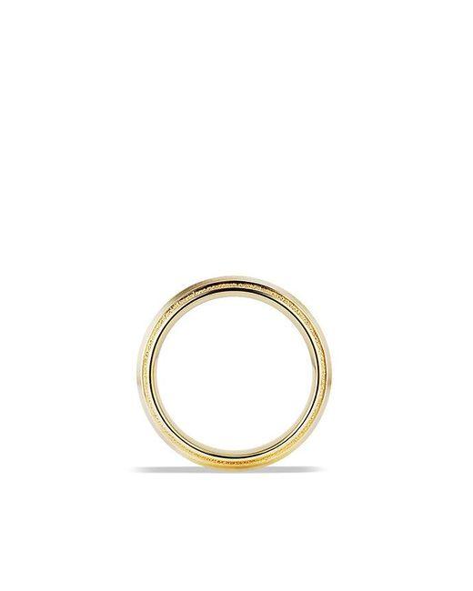 David Yurman | Metallic Knife Edge Band Ring In 18k Gold, 8mm for Men | Lyst