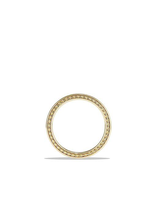 David Yurman   Metallic Streamline Band Ring In 18k Gold, 4mm for Men   Lyst