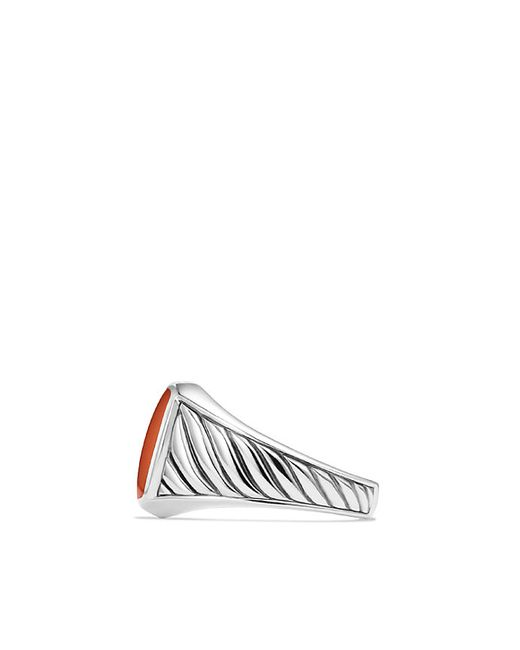 David Yurman | Cable Classics Signet Ring With Red Agate for Men | Lyst