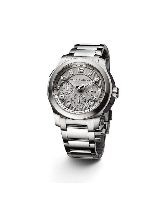 David Yurman | Metallic Revolution 43.5mm Stainless Steel Chronograph Watch for Men | Lyst