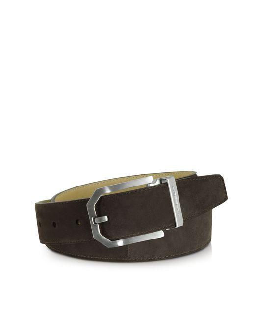 moreschi monterey brown suede belt in brown for