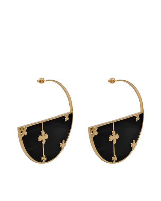 Aurelie Bidermann | Metallic Bianca Onyx Hoop Earrings | Lyst