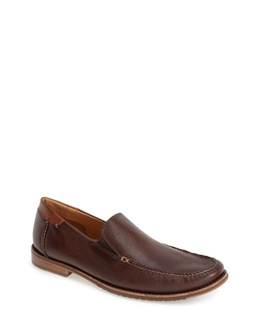 Tommy Bahama | Brown 'faxon' Leather Slip-on for Men | Lyst