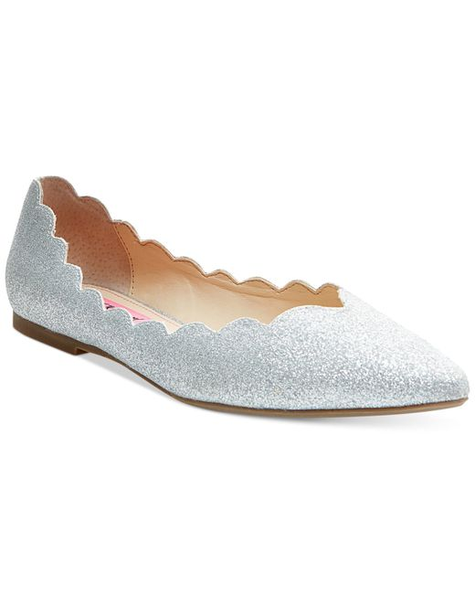 Betsey Johnson | Metallic Crosbey Scalloped Flats | Lyst