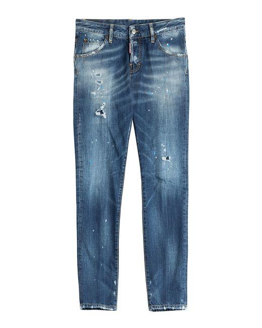 DSquared² | Dean Dark Blue Jeans | Lyst