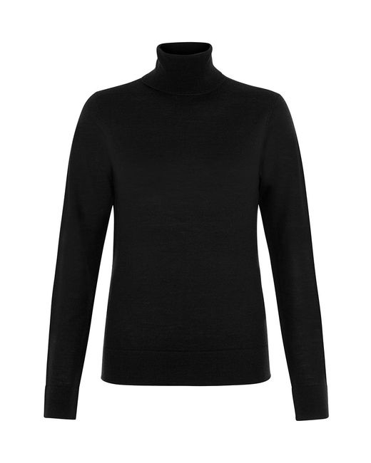 Hobbs | Black Lara Roll Neck | Lyst