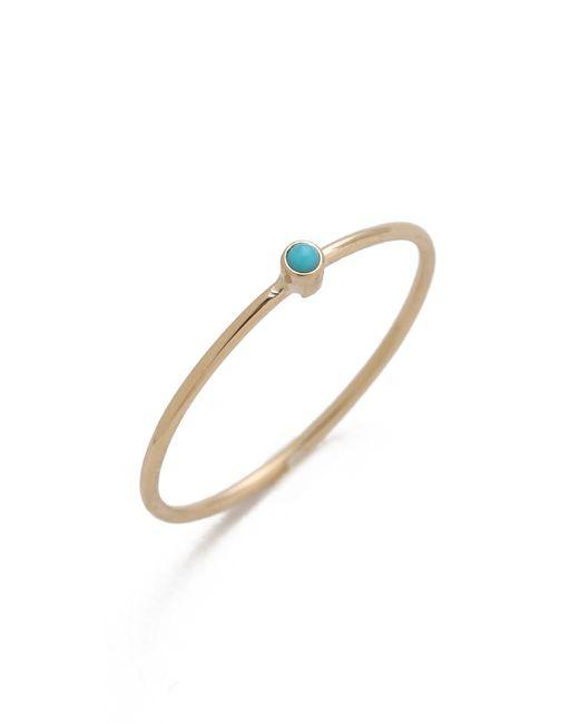 Jennifer Meyer | Metallic Thin Ring With Turquoise | Lyst