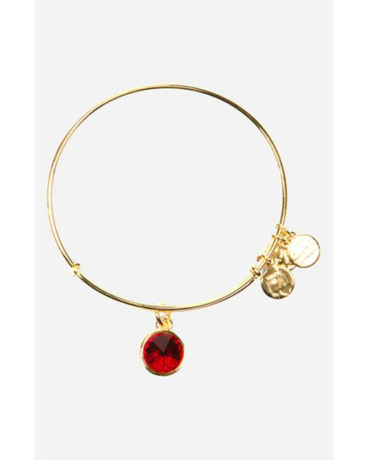 ALEX AND ANI | Red Birthstone Expandable Wire Bangle | Lyst