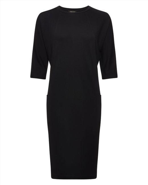 Jaeger | Black Jersey Seam Detail Dress | Lyst