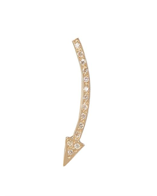 Loren Stewart   Metallic White-Diamond & Yellow-Gold Arrow Earring   Lyst
