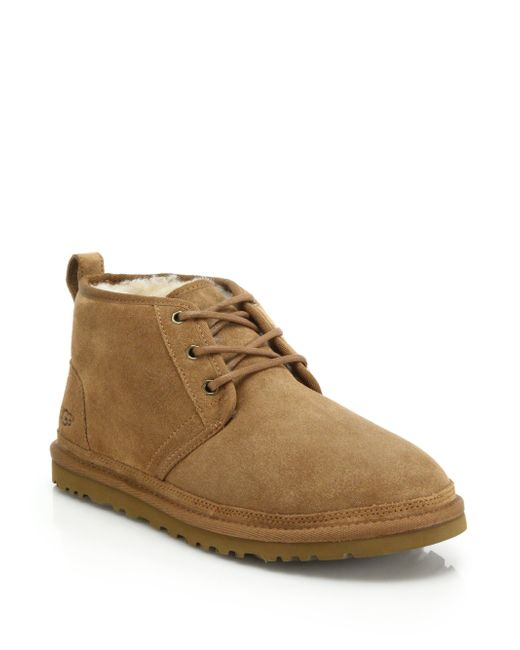 ugg neumel chukka boots in brown for lyst
