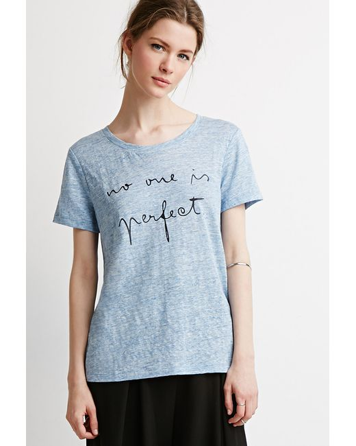 Forever 21 | Blue Contemporary Perfect Graphic Tee | Lyst